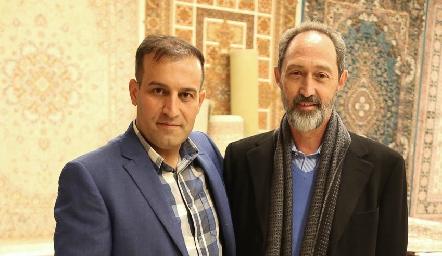 Hossein Samadi y Alejandro Pizarro.
