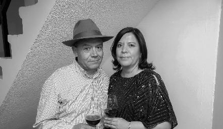 Hipólito Cano y Fabiola Mejorada.
