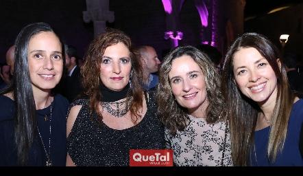 Cristina Vallejo, Marieta Bracho, Cynthia Valle y Pilar Orta.