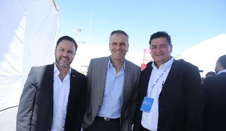 Gabriel Carvallo, Humberto Siller y Eduardo Betancourt.