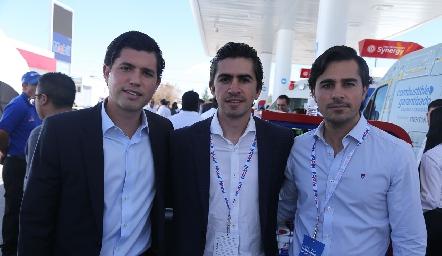 Gerardo Serrano, Guillermo y Javier Gómez.