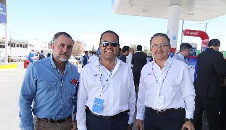Javier Alcalde, Alejandro y Octavio Aguillón