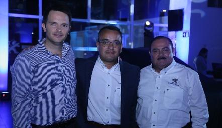 Tito Herrera, Luis Rivera y Antonio Hernández.