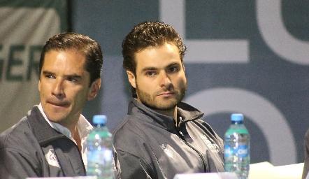 Miguel Álvarez y Carlos Sáiz, Director del Torneo San Luis Open Challenger Tour.