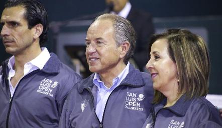 Javier Fernández, Juan Manuel Carreras y Lorena Valle.