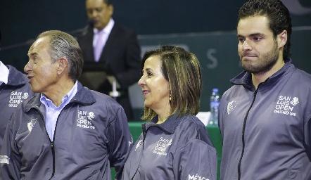 Juan Manuel Carreras, Lorena Valle y Carlos Saiz.