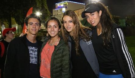 Santi Pérez, Natalia Rentería, Renata Fernández y Ana Paula Valdés.