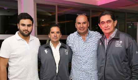 Kique Portillo, Miguel Álvarez, Enrique Portillo y Luciano Durán.