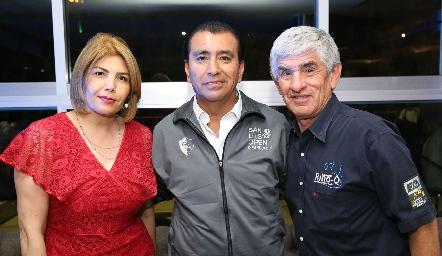 Ana Palacios, Juan Carlos Torres y Gerardo García.