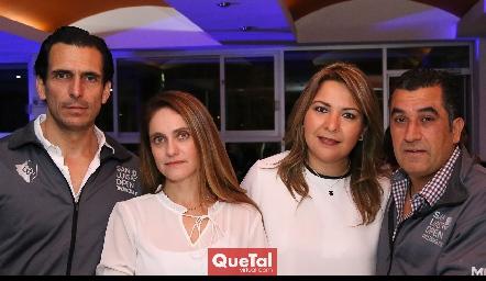 Javier Fernández,  Viviana Navarro, Arisbé Huerta y Manuel Flores.
