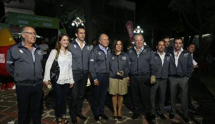 Pancho Orozco, Viviana Navarro, Javier Fernández, Juan Manuel Carreras, Lorena Valle, Fulvio Poumián, Miguel Álvarez, Carlos Saiz y Patricio Quijano.