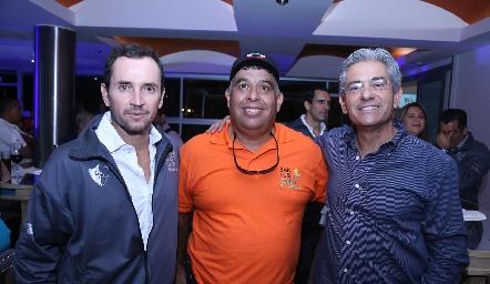 Patricio Quijano, Fernando Martínez y Carlos Pacheco.