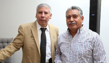 Javier Olvera y Ángel Pecina.