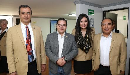 Jorge Coleff, Pablo Saavedra, Irene Maikawa y Jesús Leija.