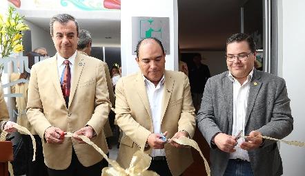 Jorge Coleff, Jesús Leija y Pablo Saavedra.
