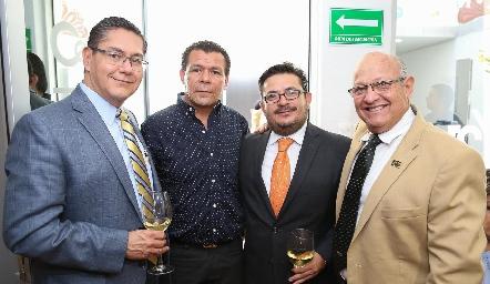 Alfonso Castillo, Antonio de Reza,  Huitzi Ortega y Jorge Jaimes.