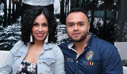 Karen Diosdado y Daniel Martínez.