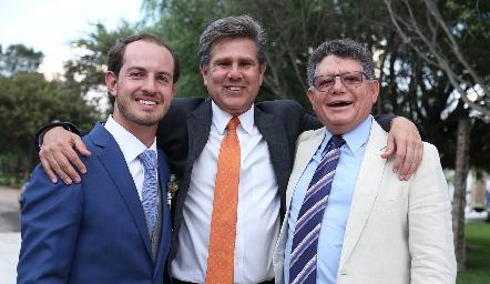 Octavio Aguillón, Galo Galván y Eduardo Romo.
