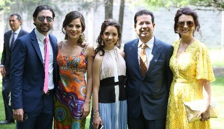 Mauricio Zollino, Andrea Hernández, Ximena Hernández, Héctor Hernández y Rosy Vázquez.
