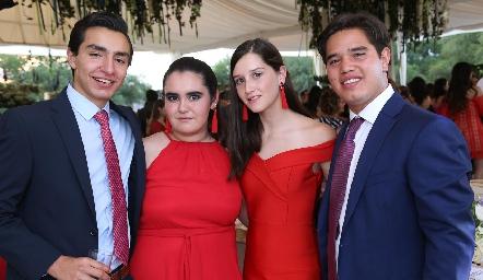 Pablo Rodríguez, Martita Delgado, Melissa Elizondo y Grillo Aguillón.