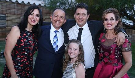 Manena Alonso, Octavio Aguillón, Ximena, Miguel Lázaro y Yolanda Payán.