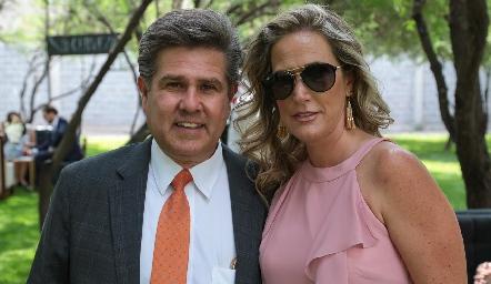Galo Galván y Claudia Quiroz.