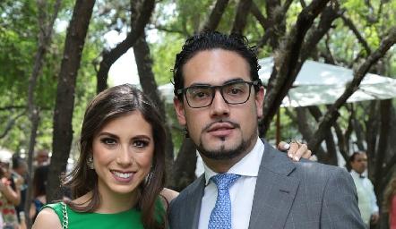 Andrea Zúñiga y Victorio Ortiz.