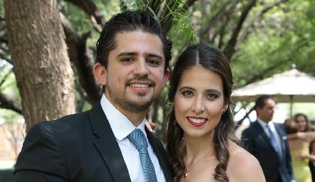 Manuel Mora y Cristina Kasis.