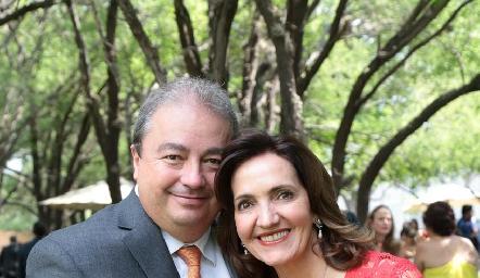 Federico Garza y Mónica Alcalde.