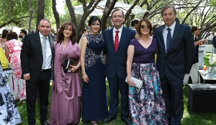 Jorge Silva, Nora Gutiérrez, Teresita de Mendizábal, Carlos Mendizábal, Leticia Vázquez y Rafael Murguía.