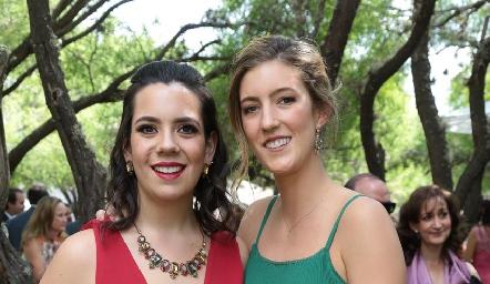 Natalia Rodríguez y Clarissa Abella.