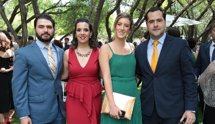 Alejandro, Natalia Rodríguez, Clarissa Abella y Andrés Mina.
