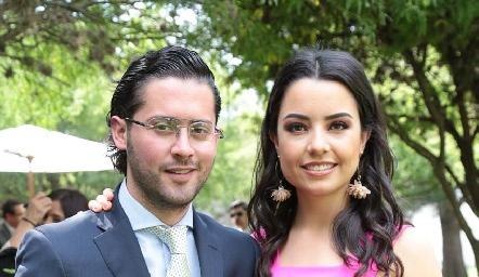 Abraham Salgado y Gaby Díaz Infante.