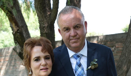 Pilar Mora y Francisco Castañón.