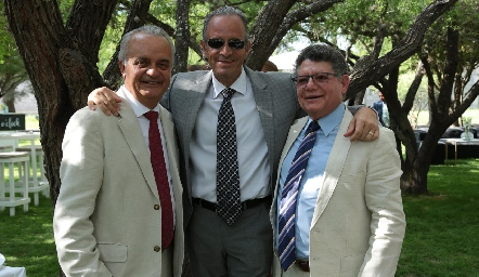 Eduardo Castañón, Francisco de la Rosa y Eduardo Romo.