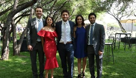 Ricardo Espinosa, Lucía González, Fico Díaz Infante, Tere Mancilla y José Luis Leiva.