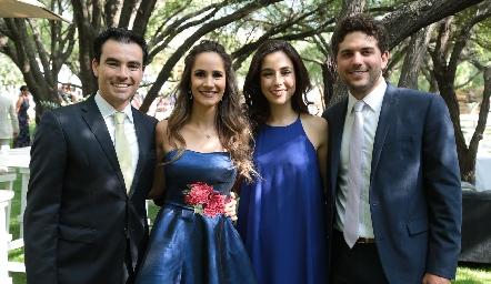 Alejandro Mancilla, Dani Mina, Tere Mancilla y Fico Díaz Infante.