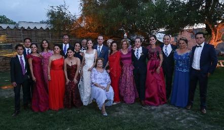En la boda de Pily y Octavio.