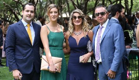 Andrés Mina, Clarissa Abella, Verónica Payán y Javier Alcalde.
