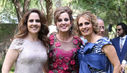 Gabriela, Yolanda y Mireya Payán.