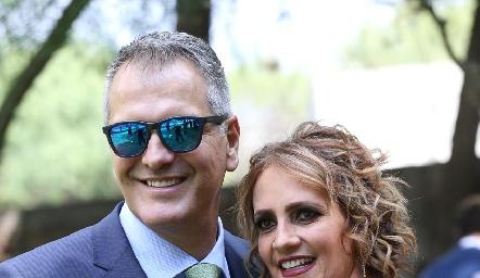 Humberto Siller y Mireya Payán.