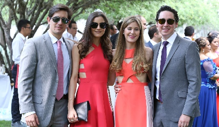 Fernando Abud, Eugenia Musa, Araceli Palau y Adrián Muñiz.