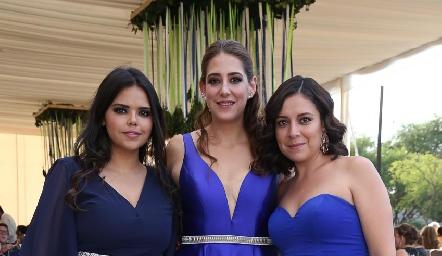 Ceci Shoup, Sofía Rangel y Paola Moreno.