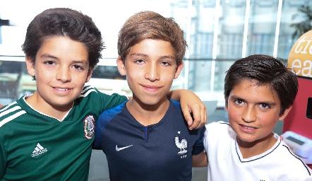 Pato Vera, Daniel Carreras y Chus Conde.