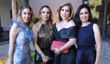 Pía Bores, Roxana Serna, Verónica de Minondo y Ana Rangel.