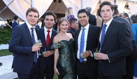 Paulo Cummings, Enrique Quintero, Regina López, Juna Manuel Piñero y Diego Joudain.