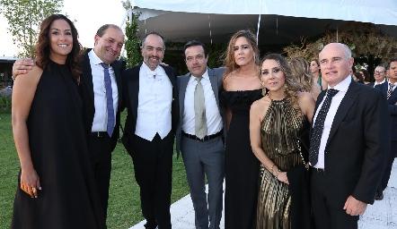 Delia Iduarte, Gabriel Valle, Marcelo de los Santos, Juan Carlos de la Rosa, Isa Garfias, Roxana Serna y Tomás Alcalde.