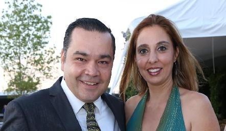 Gonzalo Sánchez y Gina Laick.