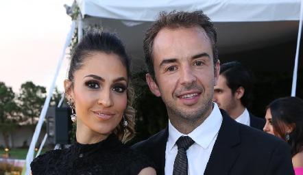 Ana Laura Barrales y Fernando Gutiérrez.