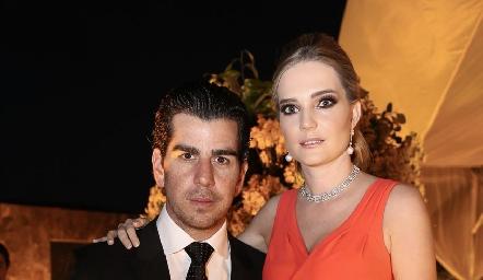Alejandro Valladares y Miriam Huber.